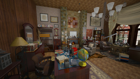 study - Vintage - Living room - by aleya