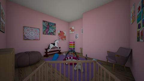Cute girl nursery - Feminine - Kids room - by i_want_to_be_an_interior_designer