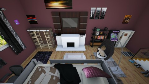basement bedroom - Retro - Bedroom - by toxic chemical life