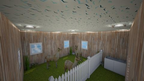 alpaca stable with grass - Modern - Garden - by jade1111