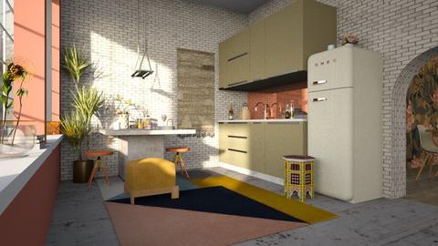 interior_cocina - Modern - Kitchen - by jjannnii
