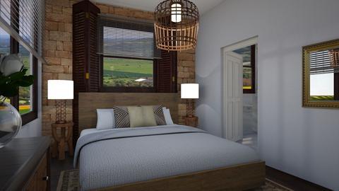 Brick bedroom - Bedroom - by CCPompey