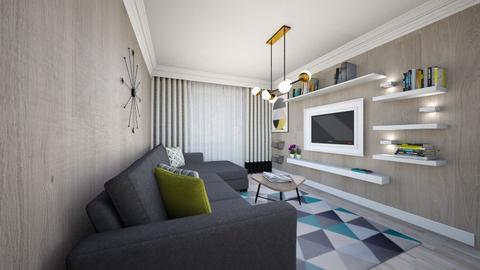 yello and grey - Modern - Living room - by Popa Bianca Rozalia