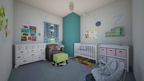 AndroGynous - Minimal - Kids room - by Jhiinyat