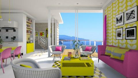 Yellow vs Pink - Living room - by XValidze