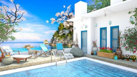 Design 85 Aegean Vacation - Garden - by Daisy320