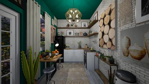 Downtown Vintage Apt - Kitchen - by Jodie Scalf