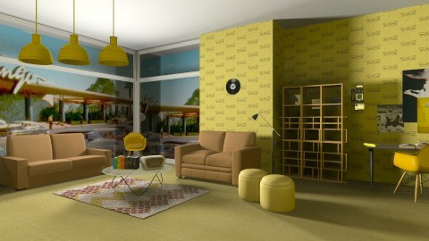 Back in Time - Retro - Living room - by Geneva Hebron