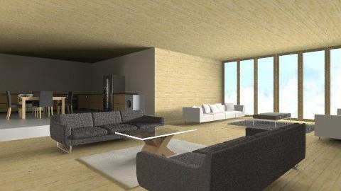 Winter challet - Living room - by Bekarr