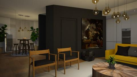 Living room and kitchen - by MiaM