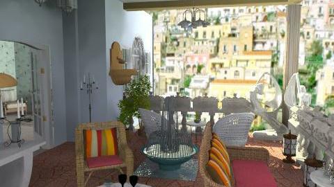 Stone terrace - Classic - Garden - by Bibiche