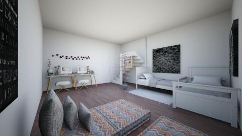 Teen Twins - Bedroom - by laurenolivis