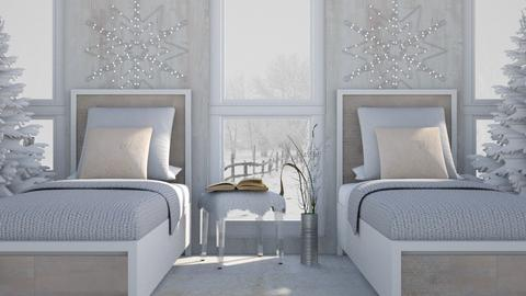 Twin Winter Bedroom - Classic - Bedroom - by millerfam