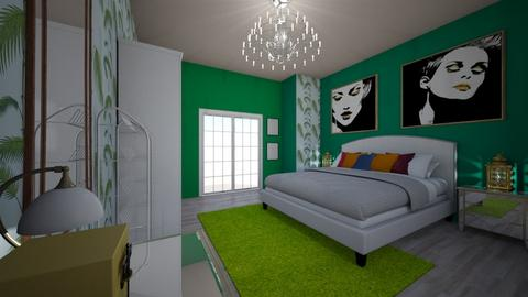 Green With Envy - Bedroom - by Nikki Lipstick