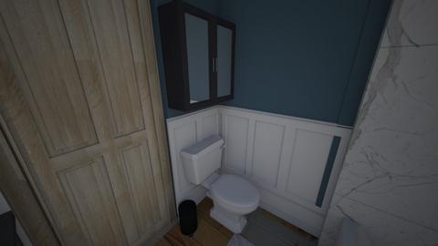 blu bathroom - Bathroom - by lolobaby