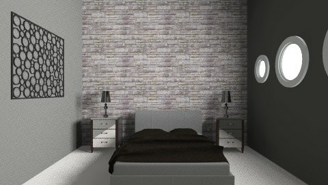 Stone BeW Room - Retro - Bedroom - by Luizabm