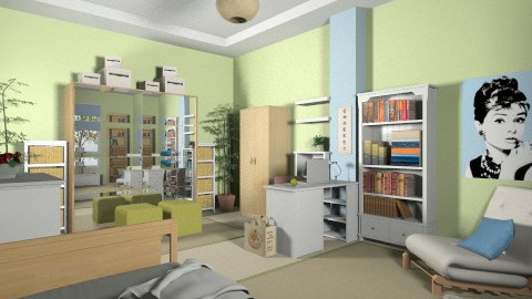 For CHri_A 1 - Eclectic - Bedroom - by Theadora