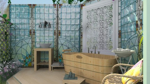 Yard Bathing - Classic - Bathroom - by Bibiche