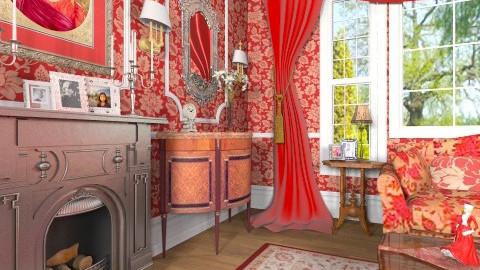 La Dame en Rouge - Classic - Living room - by Bibiche