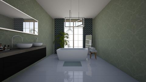 Green bathroom - Bathroom - by EllaWinberg