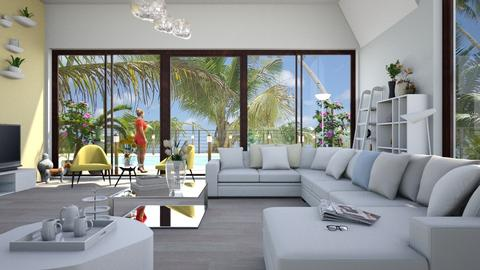 Tropical_Holidays - Living room - by ZuzanaDesign