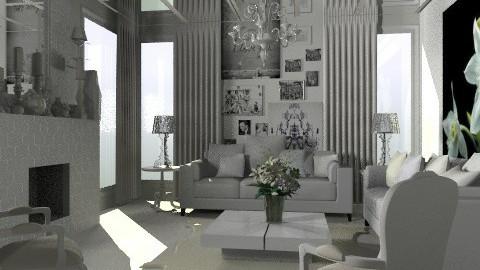 White Livingroom - Classic - Living room - by Rechoppy92