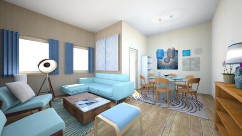 Blue Thonet - Retro - Living room - by kaasschaaf