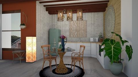 boho kitchen - by elisavz_