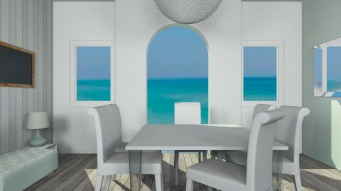 Blue Paradise - Dining room - by Annaduley