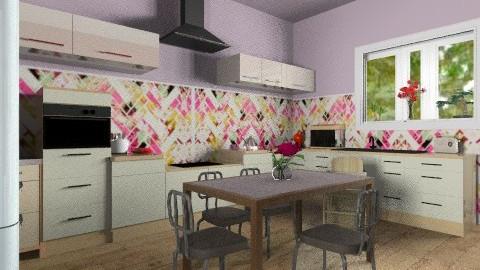 our kitchen overview b - Eclectic - Kitchen - by mrschicken