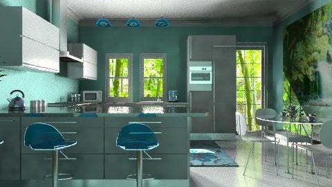 Blue Kitchen  - Modern - Kitchen - by deleted_1566988695_Saharasaraharas