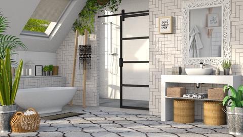Boho Bathroom  - by ariema