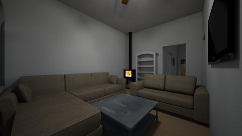 ountry house 1 - Living room - by goldygi