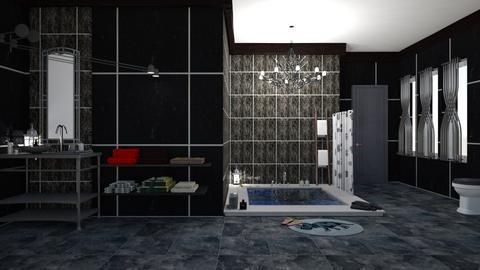 bathroom black - by nat mi