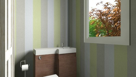 The Bathroom With Trees - Glamour - Bathroom - by ClockWork