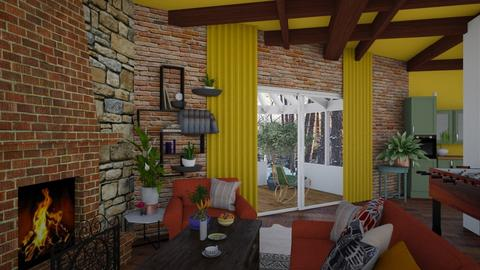 kotage living room with c - by Moriia