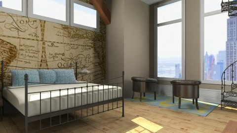 minimal travel - Rustic - Bedroom - by monique_me