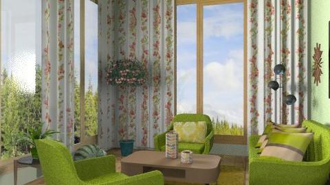 Moss - Retro - Living room - by milyca8