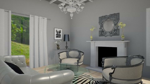Black and white - Living room - by filipesoares1992