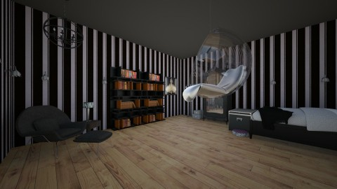 Sweet Gothic Dreams  - Bedroom - by Elf_prettyballetgirl16