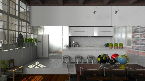 Kitchen in the Warehouse Apartment - Vintage - Kitchen - by Carliam