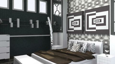 bLk wHt BedRoOm - Eclectic - Bedroom - by shelleycanuck