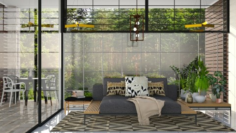 M_Grid and geometric - Bedroom - by milyca8