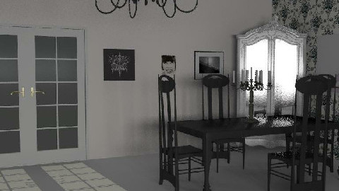 My Room of the hell 2 - Dining Room - by Esnach