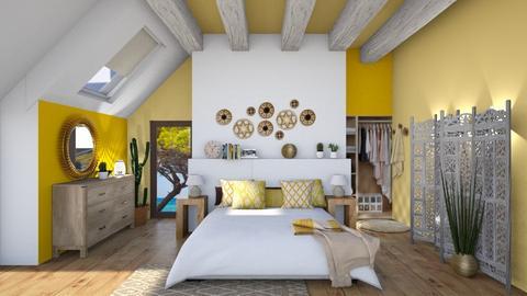 Solar bedroom - Bedroom - by Mandine