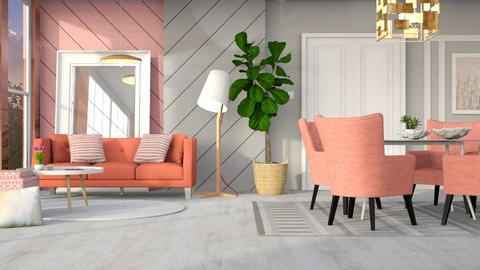 M_ Coral - Living room - by milyca8
