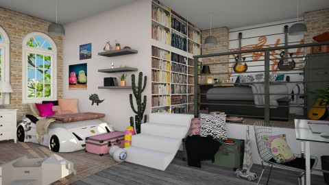 Shared bedroom - Bedroom - by Paola Perdomo