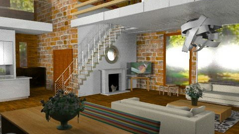DoubleHeightLiving - Modern - Living room - by camilla_saurus