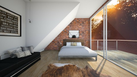 Loft bedroom - Rustic - Bedroom - by Malwalker02