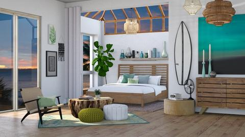 Sea Glass Bedroom - Bedroom - by KCAD